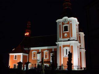Kostel sv. Bartoloměje - za noci