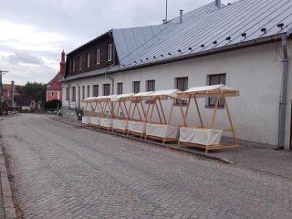 Bartolomějská pouť v Rozsochách 2018 - příprava stánků pro řemeslný jarmark